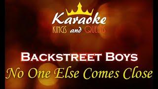 Backstreet Boys - No One Else Comes Close [Karaoke]