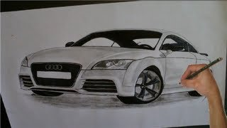 Audi TT RS Drawing