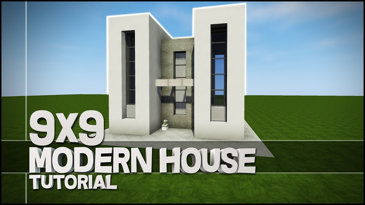 minecraft house tutorial 9x9 modern house best house