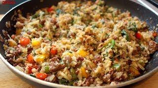 Keto Cheesy Pork Fried Rice (Cauliflower Rice) | Keto Recipes | Headbanger