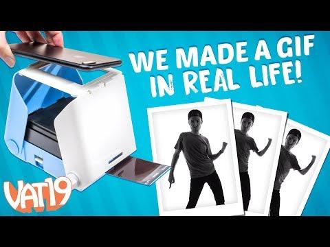 Making a GIF in real life using KiiPix Printer