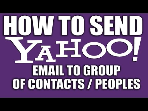 How to make a group email on yahoo