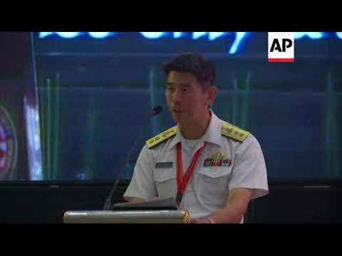 Japanese navy chief speaks at maritime meeting