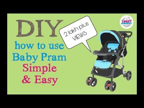 Diy: How to Use a Baby Pram/ Stroller: Fold - Unfold
