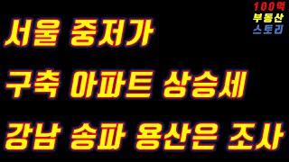(부동산 재테크)서울 중저가  아파트상승, 강남 송파 …