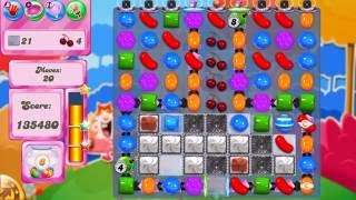 Candy Crush Saga Level 1697 No boosters break wall