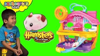 Baby Hamster in a House - from Zuru Little Mouse Pets for kids playtime with hamster toys
