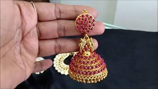 Earrings 1 Gram Gold  I CZs I Pearls I Kundun I