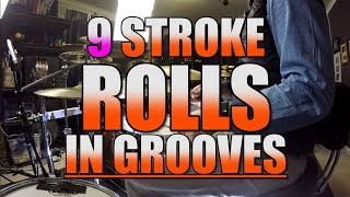 Drum Lessons - 32nd note Rolls In Grooves - Part 3