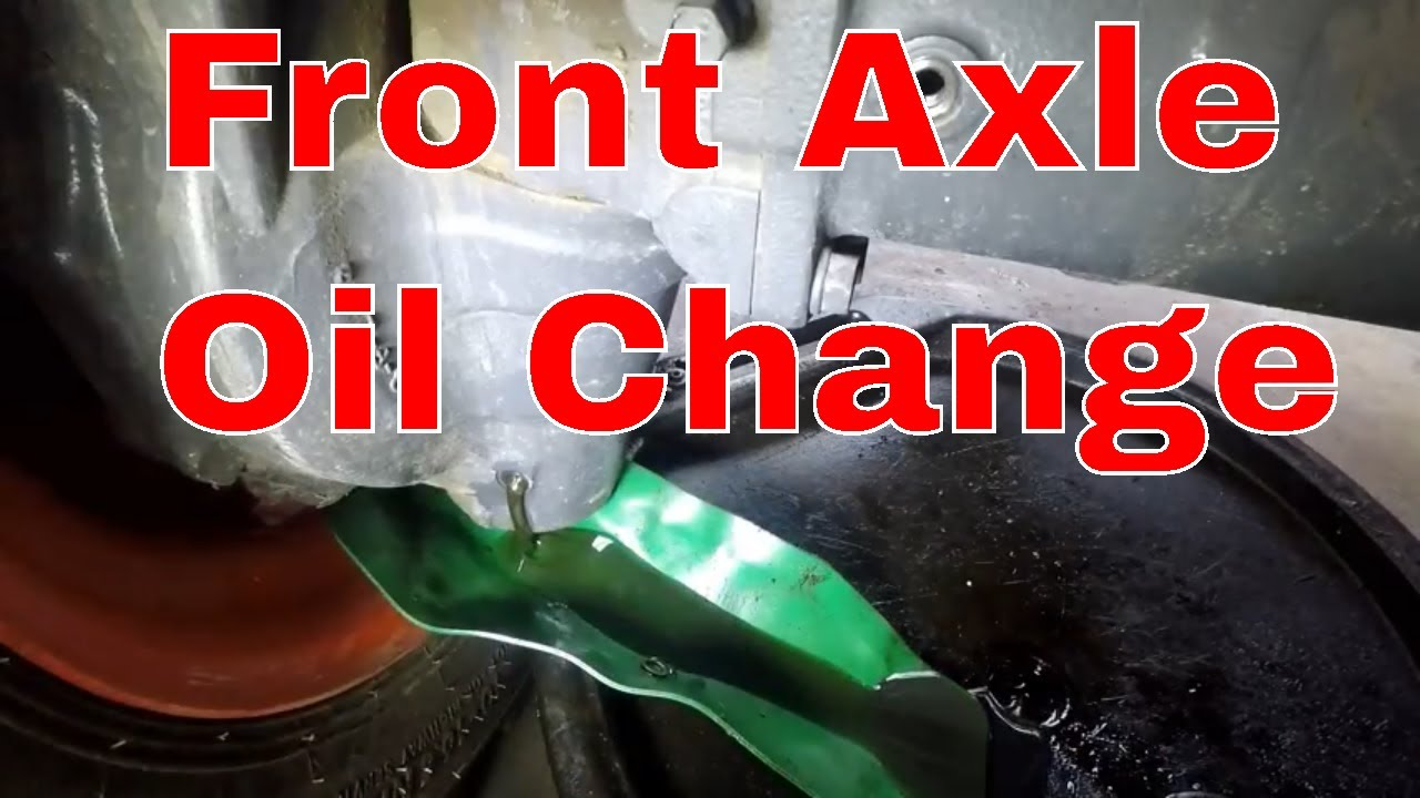 Kubota Grand L Front Axle Oil Change