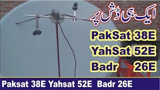 Download Video How to Set paksat 38E Yahsat 52E and Badr 26E on One Dish MP3 3GP MP4