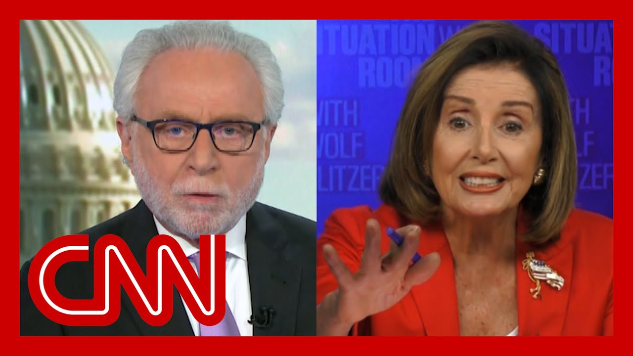 VIDEO: Pelosi has heated argument with CNN's Blitzer on stimulus ...