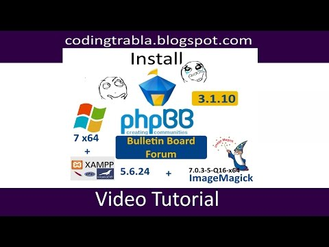 Install phpBB 3.1.10 on windows 7 localhost ( XAMPP 5.6.24 ) - open source PHP Forum