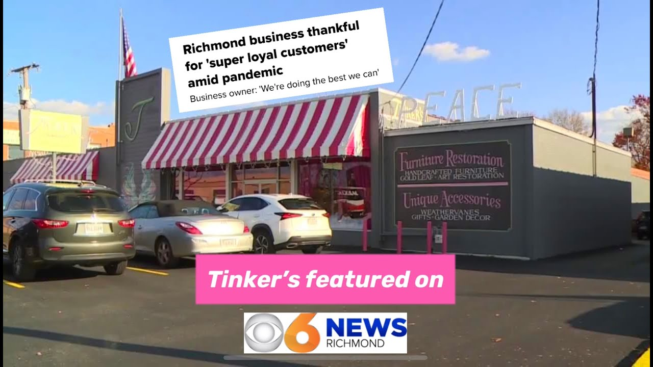 Tinker's Featured on WTVR CBS 6 this weekend!