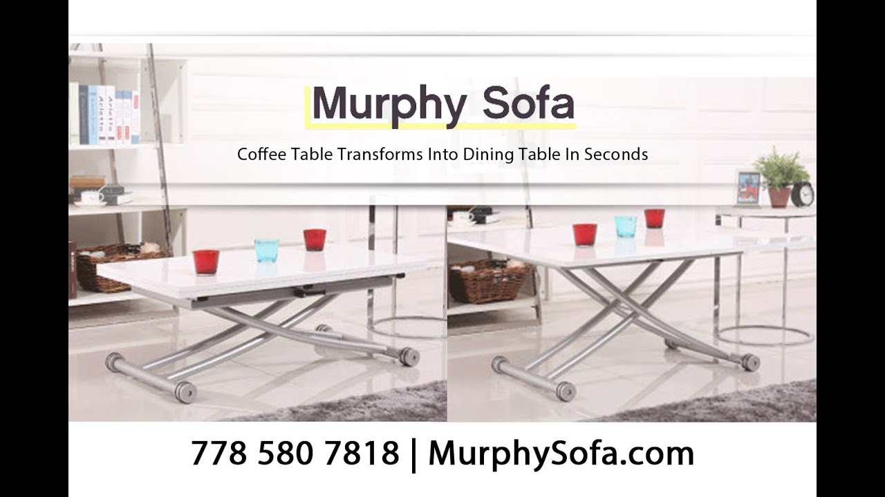 Space Saving Coffee Table Transforms Into Dining Table In Seconds