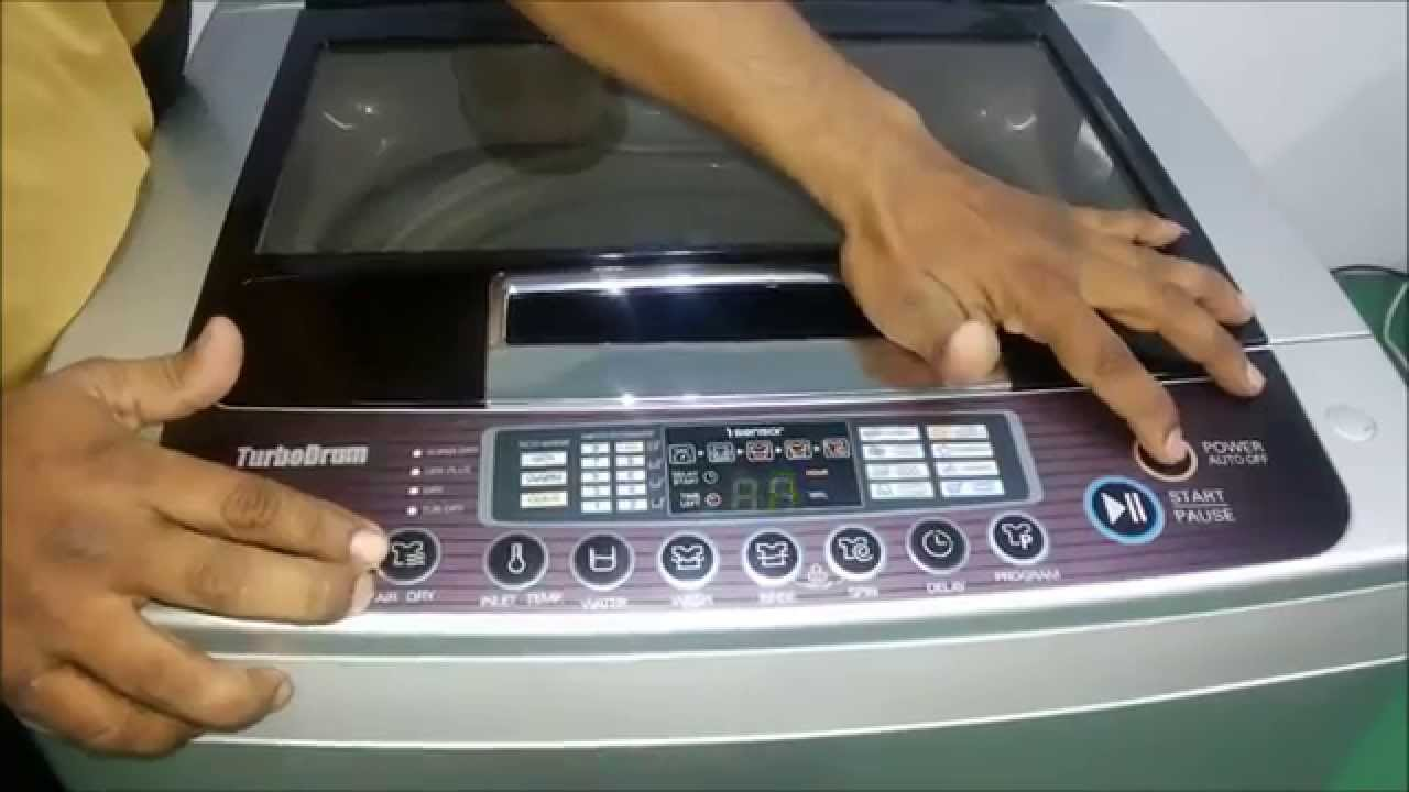 How To Use Fully Automatic Top Loading Washing Machine Demo Panasonic Wiring Diagram Pdf Youtube