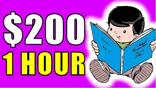 Earn $200-$1,000+ in ONE Hour JUST Reading?!!