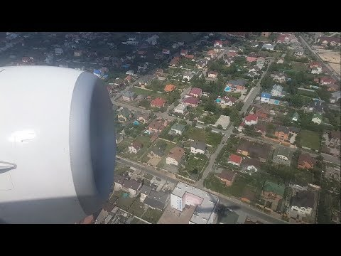 Beautiful approach into Kiev| Посадка в києві| FlyDubai Boeing 737-800