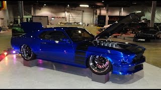 1969 Ford Mustang Custom RestoMod with a 572 engine in Super Blue on My Car Story with Lou Costabile