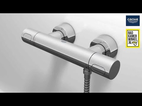 Badkamerwinkel - temperatuur instellen thermostaatkraan - YouTube