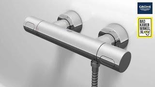 Badkamerwinkel - temperatuur instellen thermostaatkraan