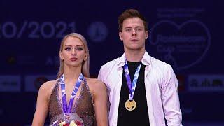 Церемония награждения Танцы на льду Гран при по фигурному катанию 2020 21 Rostelecom Cup