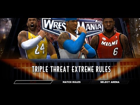 WWE 2K14 - Lebron James Vs Kobe Bryant Vs Carmelo Anthony