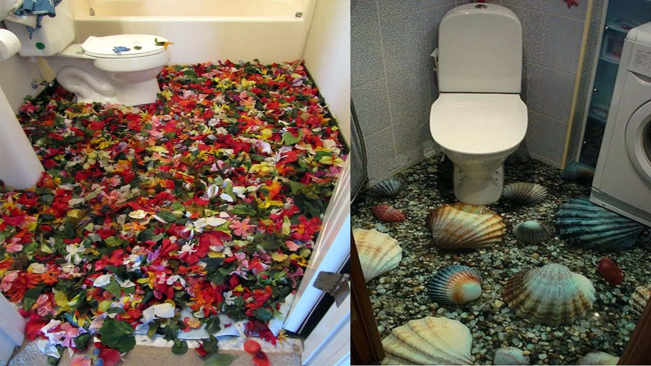 bathroom floor illusions mind blowing 3d floor designs for your bathroom 10645