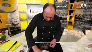 Стейк из красной рыбы под шубой из грецкого ореха рецепт от шеф-повара / Илья Лазерсон