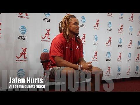 Alabama QB Jalen Hurts - Vanderbilt Week