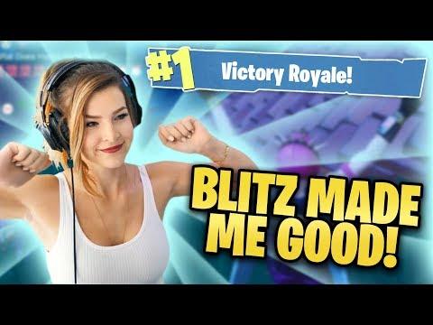 BLITZ MADE ME GOOD! (Fortnite: Battle Royale) | KittyPlays