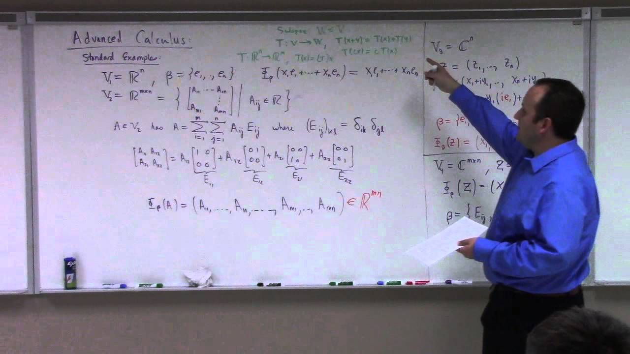 Advanced Calculus: Lecture 1 part 1: normed linear spaces