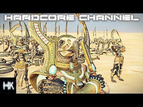 Total War Warhammer 2 - прохождение Hardcore - Mortal Empires Цари Гробниц =3= Сыны Гора