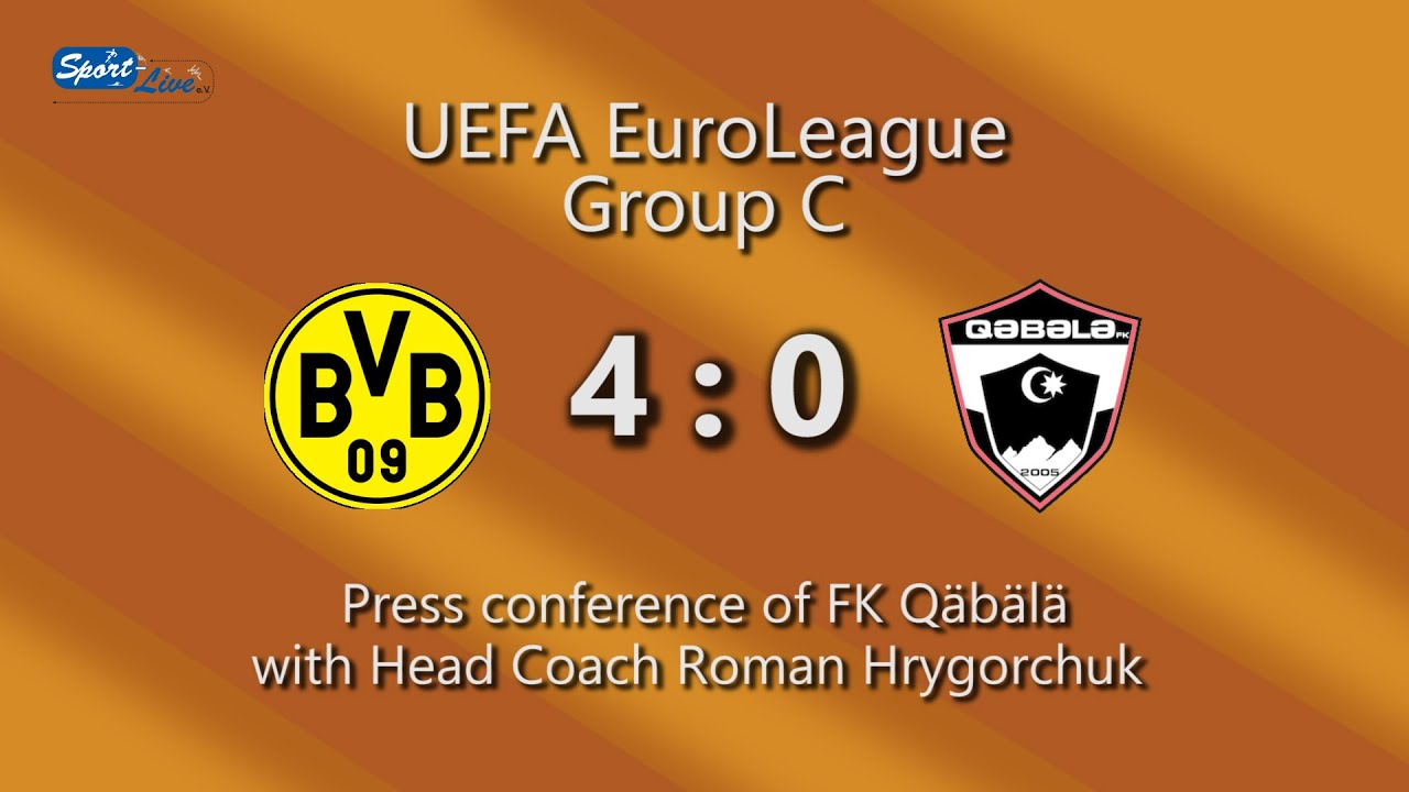 Borussia Dortmund - F.K. Qäbälä: Pressekonferenz des F.K. Qäbälä nach dem Spiel