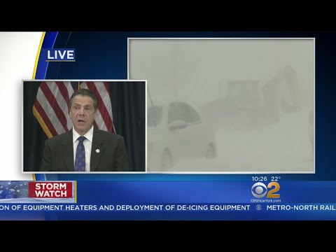 Gov. Andrew Cuomo News Conference On Storm