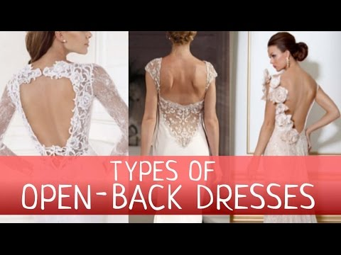 Types of Open-Back Wedding Dresses.