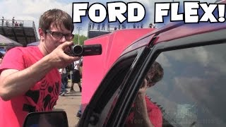 DESTROYING A FORD... WITH BASS!  2 Sundown X18 Subwoofers Playing LOUD Bass Songs w/ Car Audio FLEX