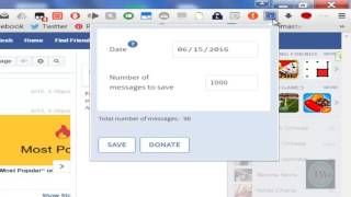 How to download Facebook chat conversation to computer