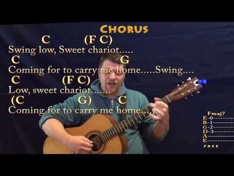 Swing Low, Sweet Chariot (Spiritual) Fingerstyle Guitar Cover Lesson in C with Chords/Lyrics