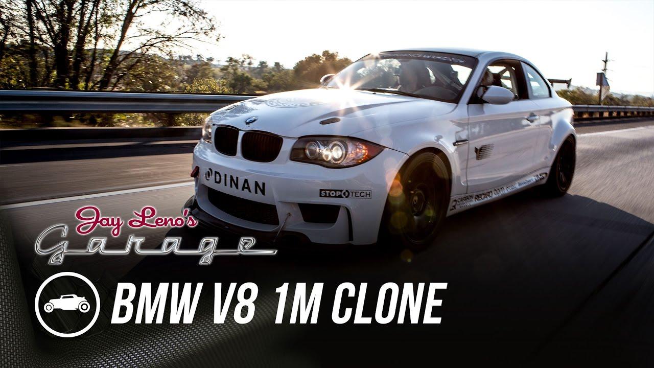 Jay Leno drives an insanely loud Dinan V8-swapped BMW 135i