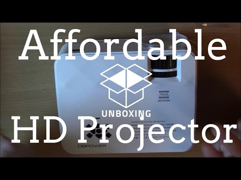 Affordable 1080p LED Projector Unboxing Review! From DBPOWER Technology