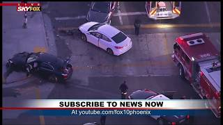 CRASH OUT: Police chase ends off Crenshaw Blvd/54th St in Leimert Park (FNN)