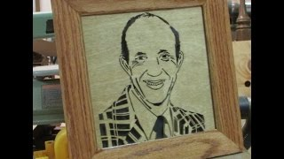Pallet Up Cycle Picture Frame, With Scroll Saw Portrait Art