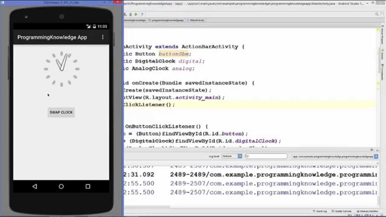 how to set alarm in android studio