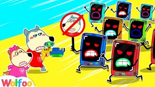 Wolfoo Stops Angry Talking Phone & Learns Good Habits for Kids | Wolfoo Family Kids Cartoon