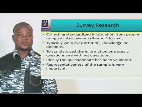PSYC 101: SESSION  8 - OVERVIEW OF RESEARCH METHODS II