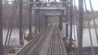Crossing the Mississippi River on Amtrak (Burlington, IA)
