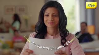 Idea Postpaid Nirvana Plans - 20% Savings on Family Bills