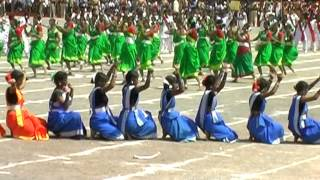 Chhattisgarhi Folk Dance Sua Soowa Nacha by Girls of School Chhattisgarh Bilaspur
