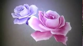 step 2: How to Painting Roses on Fabric Dresses, roses cloth art painting ways and tutorials